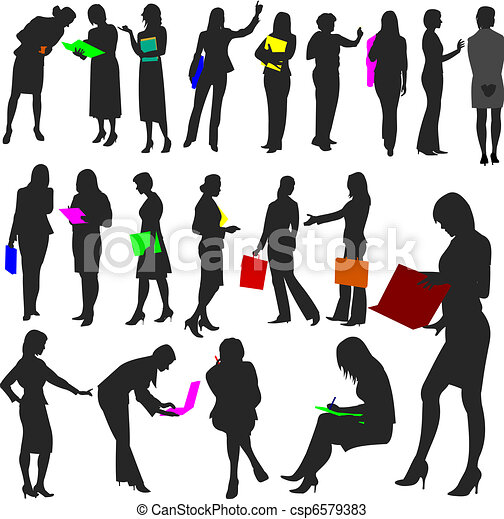 People - Women at Work No.2. - csp6579383