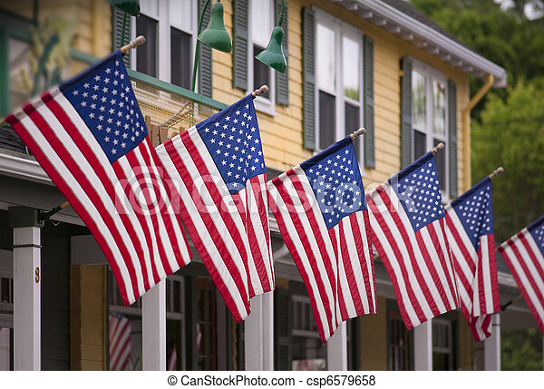 Country store on july fourth - csp6579658