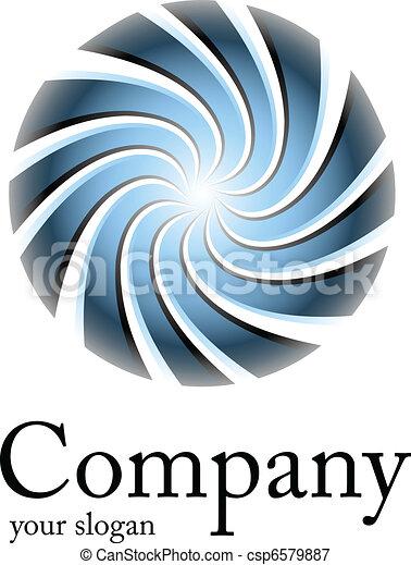 Logo blue spiral - csp6579887