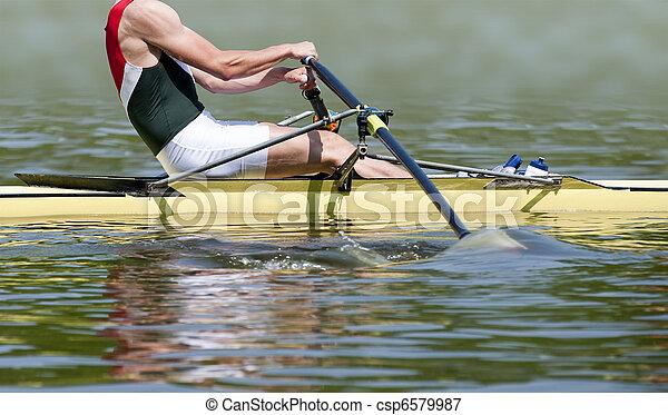 Rowing stroke - csp6579987