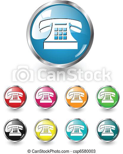 Telephone icon vector set - csp6580003