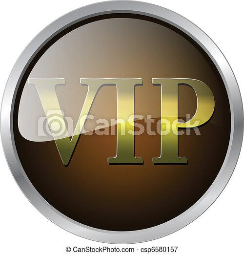 VIP badge vector illustration - csp6580157