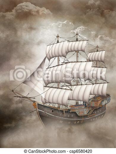 Cloud Ship - csp6580420