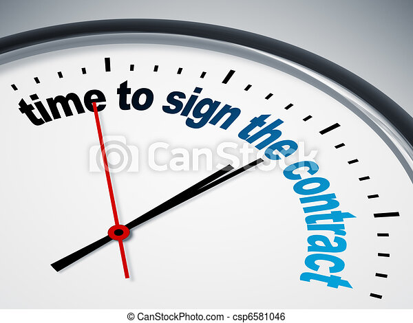 time to sign the contract - csp6581046