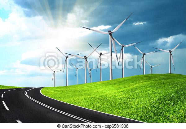 Wind turbines - csp6581308