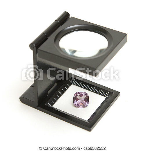 Appraisal of an Amethyst Gem - csp6582552