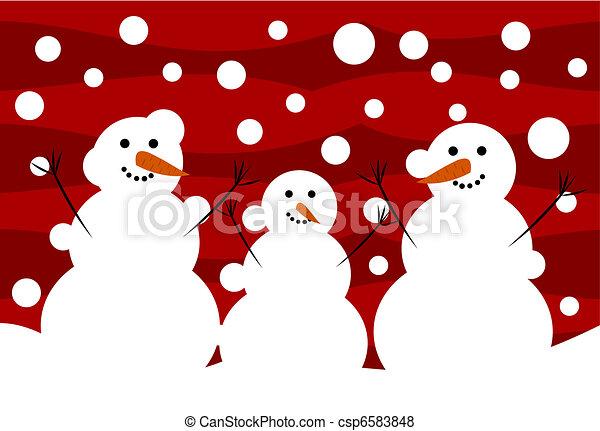 Snowmen - csp6583848