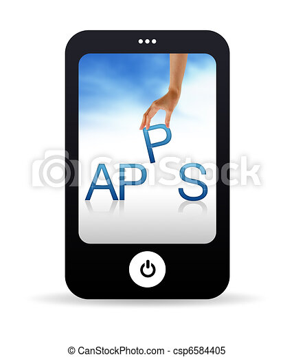 Stock Illustrations Of Apps Mobile Phone High Resolution
