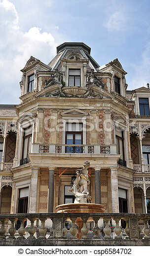 classical austrian manor with projecting alcoves - csp6584702