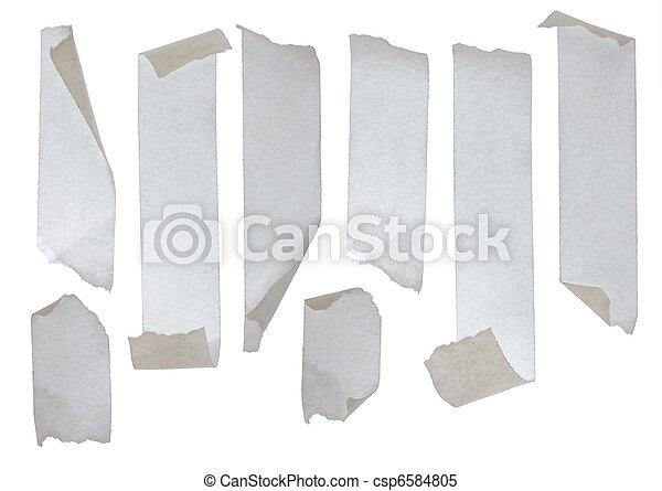 Strips of masking tape - csp6584805