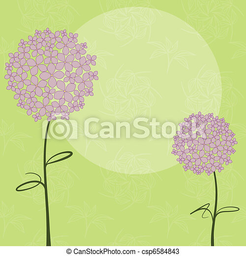 Abstract springtime purple Hydrangea flower - csp6584843