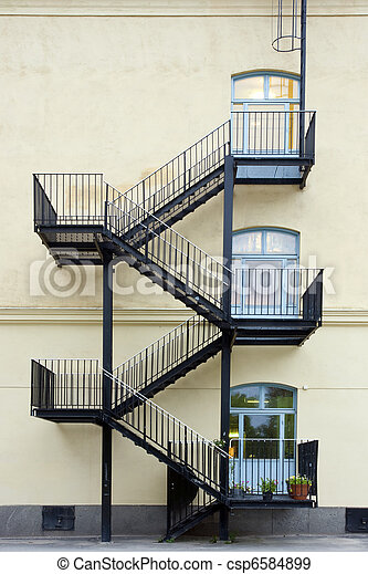 Fire escape - csp6584899