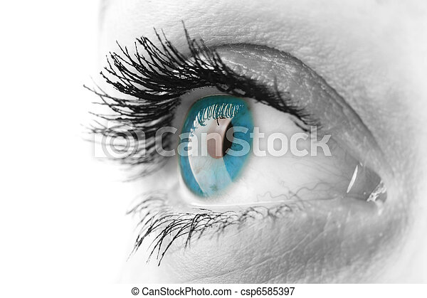 Woman eye - csp6585397