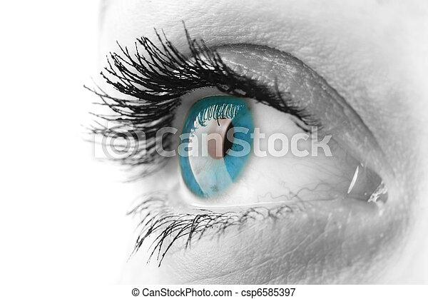 婦女, 眼睛 - csp6585397