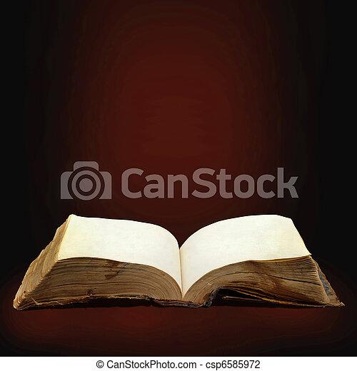 aberta, magia, livro - csp6585972