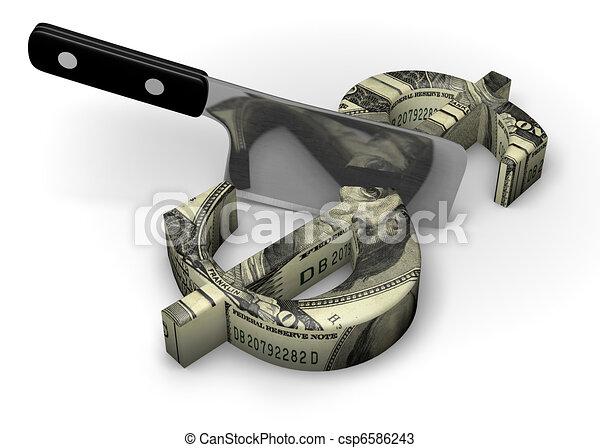 Cutting Costs - csp6586243