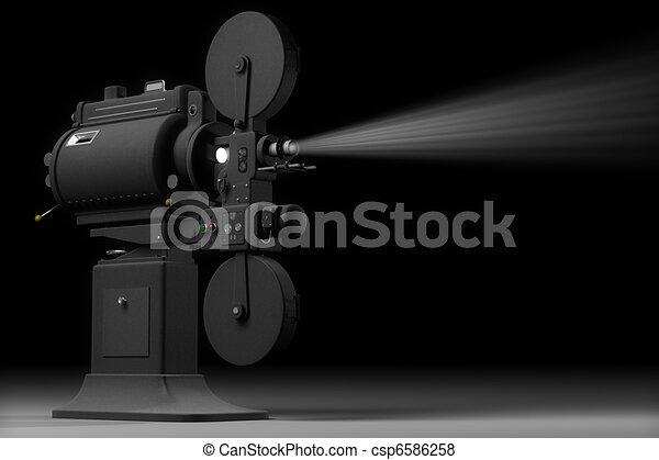 Industrial Movie Projector - csp6586258