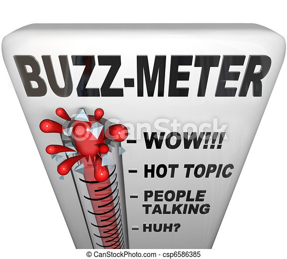 Buzz Meter Thermometer Measures Popularity - csp6586385