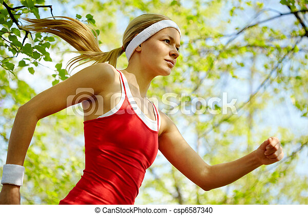 Sports girl  - csp6587340