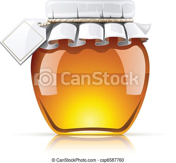 jar with honey - csp6587760