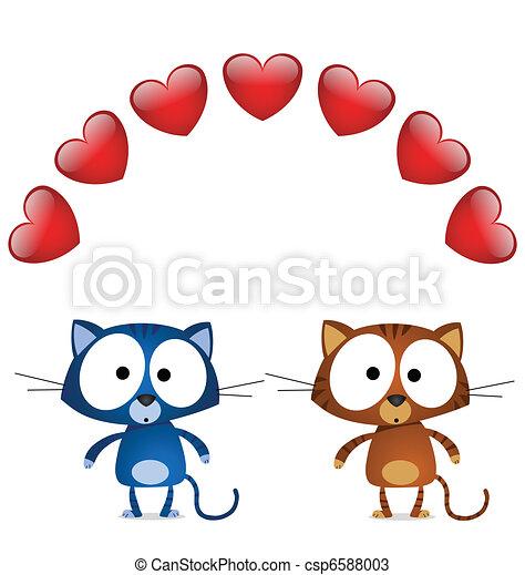 Cat valentine lovers  - csp6588003