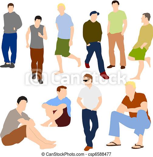 Set of Men in Casual clothes - csp6588477