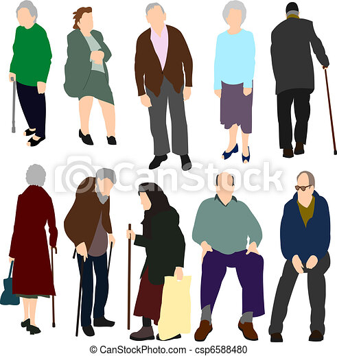 Old People Set No.1. - csp6588480