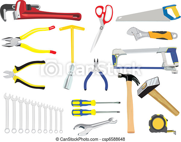 The set of hand tools - csp6588648