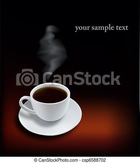 Coffee cup on black background.  - csp6588702