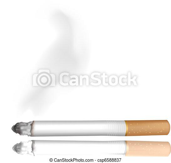 Smoking cigarette.  - csp6588837