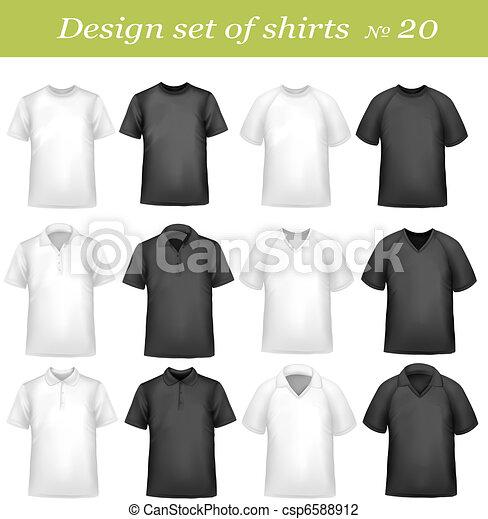 Black, and white men polo shirts - csp6588912