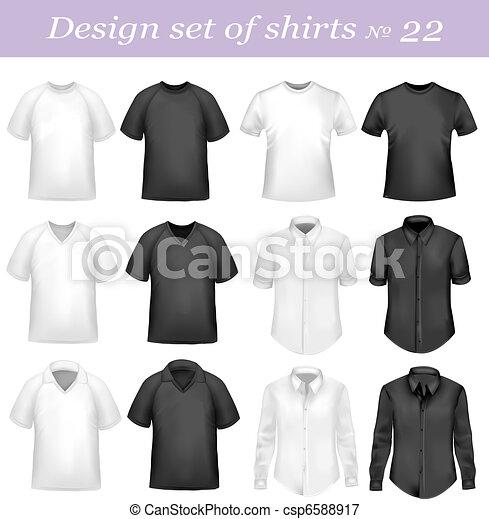 Black, and white men polo shirts - csp6588917