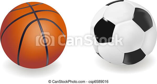 Set of sport balls. Vector - csp6589016
