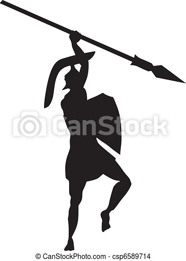 ancient Creek warrior - csp6589714