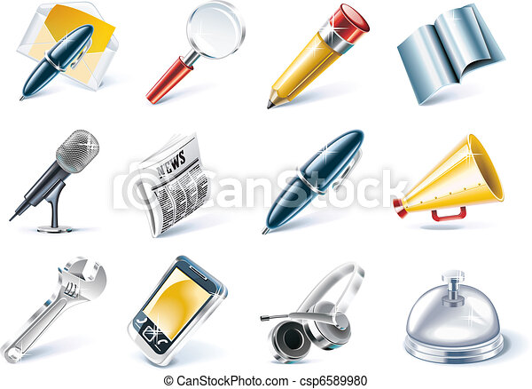 Vector communication and media icon - csp6589980