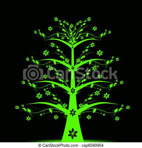 Art tree - Living Forever - csp6590954