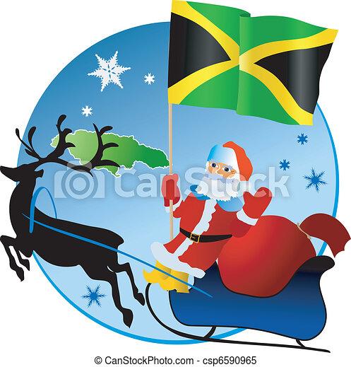 Merry Christmas, Jamaica! - csp6590965