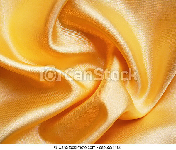 Smooth elegant golden silk as background  - csp6591108