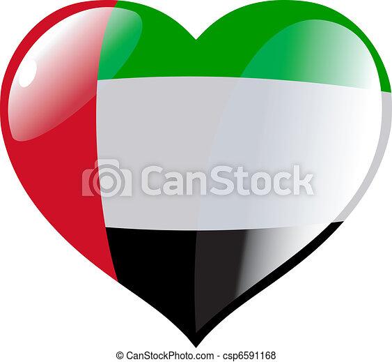 United Arab Emirates in heart - csp6591168