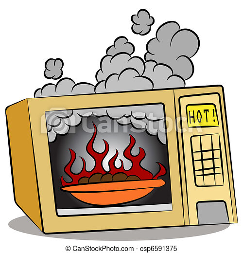 Food Burning In Microwave Oven - csp6591375