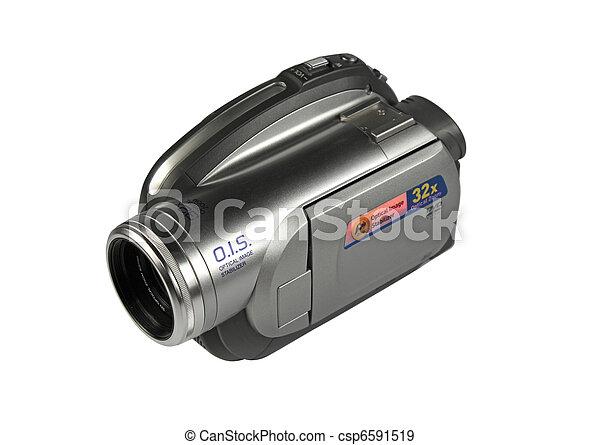digital video camera isolated - csp6591519
