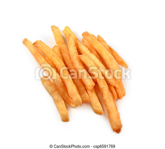 French fries isolated - csp6591769