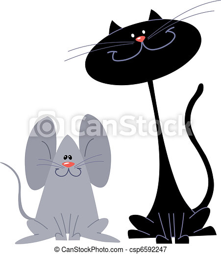 Cat and mouse - csp6592247