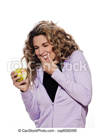 Woman Portrait Toothache Gingivitis, - csp6592495