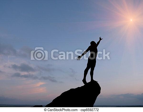 man at the top - csp6592772