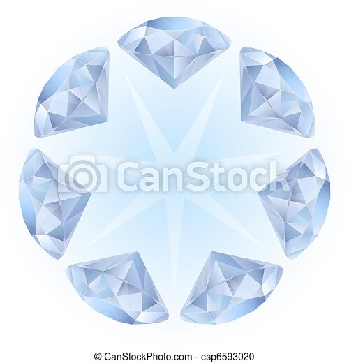 Realistic diamonds pattern - csp6593020