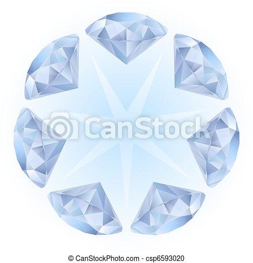 Realistic diamonds pattern - csp6593020