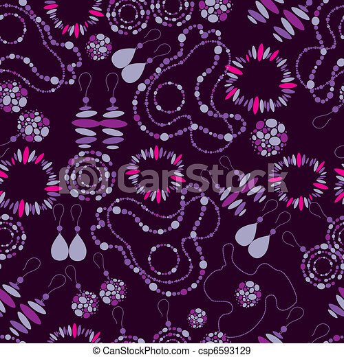 seamless pattern of fashion jewelry - csp6593129