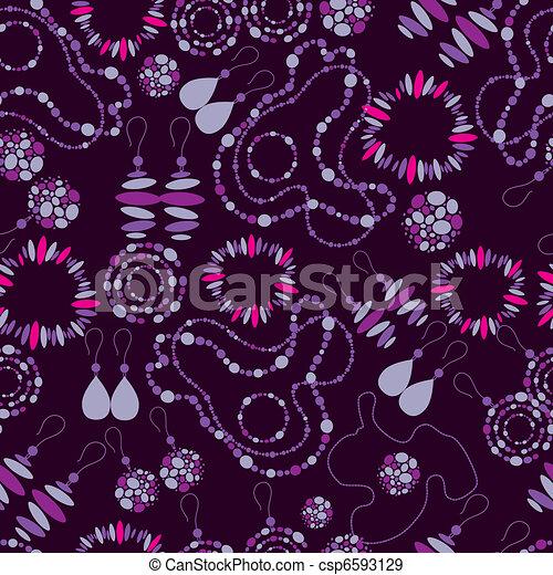 seamless pattern of fashion jewelry - csp6593129