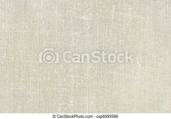Natural vintage linen burlap texture background, tan, beige - csp6593566